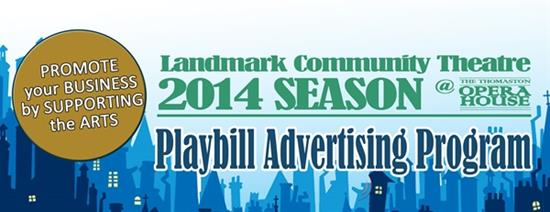 Advertise in our 2014 Playbill