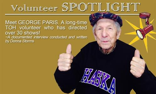 Volunteer Spotlight ~ GEORGE PARIS