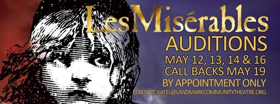 Open Auditions-LES MISERABLES