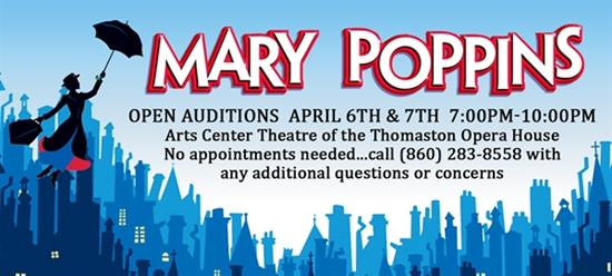 OPEN AUDITIONS Disney's Mary Poppins