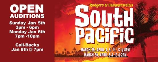 OPEN AUDITIONS - South Pacific